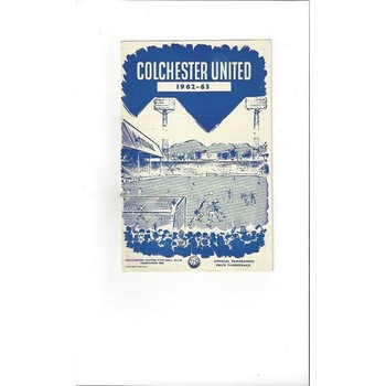 1962/63 Colchester United v Reading Football Programme