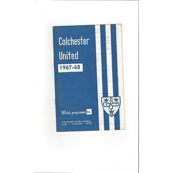 1967/68 Colchester United v Oxford United Football Programme