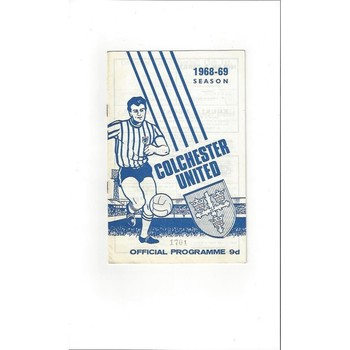 1968/69 Colchester United v Scunthorpe United Football Programme