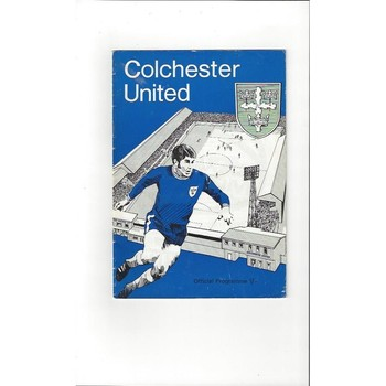 1969/70 Colchester United v Exeter City Football Programme