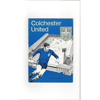 1969/70 Colchester United v Scunthorpe United Football Programme