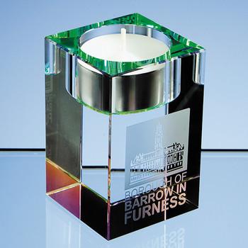 8cm Optical Crystal Tealight Holder*