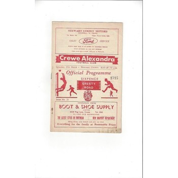 1966/67 Crewe Alexandra v Newport County Football Programme