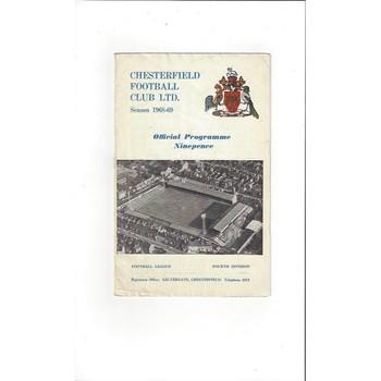 1968/69 Chesterfield v Colchester United Football Programme