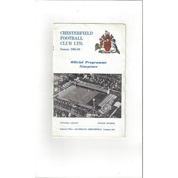 1968/69 Chesterfield v Exeter City Football Programme + League Review