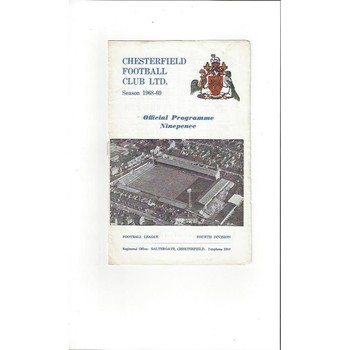1968/69 Chesterfield v Grimsby Town Football Programme