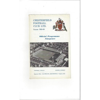1968/69 Chesterfield v Peterborough United Football Programme