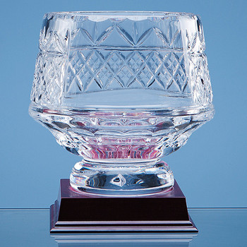 Lead Crystal Panelled Heeled Bowl (15cm)