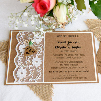 Wedding Invitation - Rustique