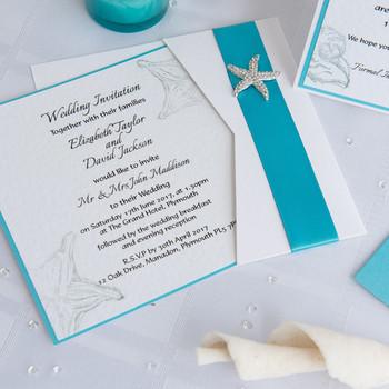 Wedding Invitation - Pocket Card - Coast