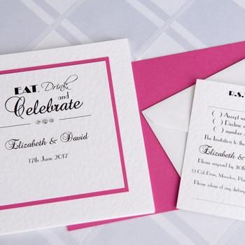 Wedding Invitation - Traditional Fold - Celebrate