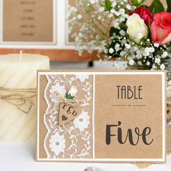 Table Number/Table Name - Rustique