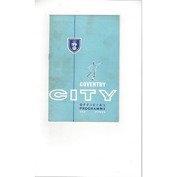 1963/64 Coventry City v Reading Football Programme