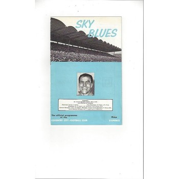 Coventry City v Stoke City Friendly Football Programme 1965/66