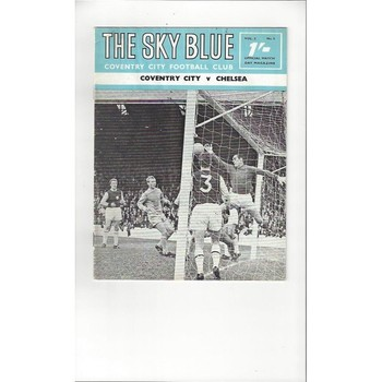 1968/69 Coventry City v Chelsea Football Programme