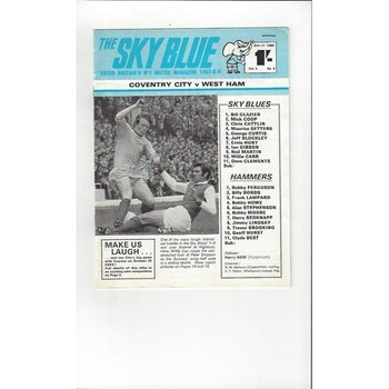 1969/70 Coventry City v West Ham United Football Programme