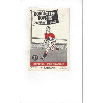 1961/62 Doncaster Rovers v Barrow Football Programme