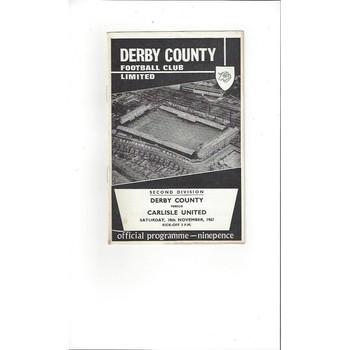 Derby County v Carlisle United 1967/68
