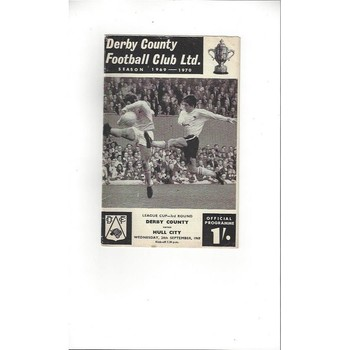 Derby County v Hull City League Cup 1969/70
