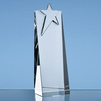 Optical Crystal Star Rectangle Award (21cm)