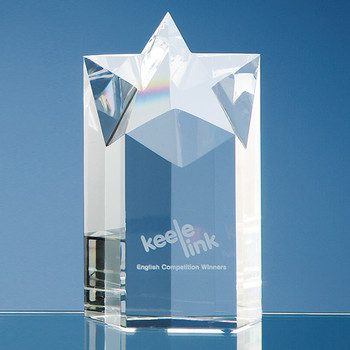 Optical Crystal Star Column Award (15cm)