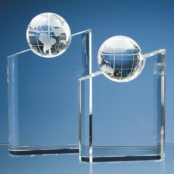 Optical Crystal Globe Mountain Award (25.5cm)