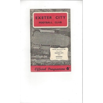 1967/68 Exeter City v Swansea Football Programme