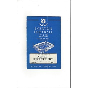 Everton v Manchester City FA Cup Replay 1965/66
