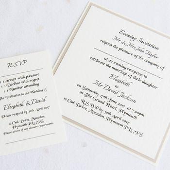 Evening Invitation - Flat Card - Elegance