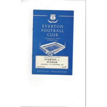 1966/67 Everton v Fulham Football Programme