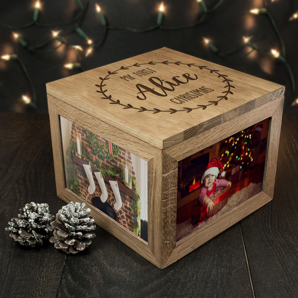 Baby's 1st Christmas Memory Box - Personalised | Wedding Present ...