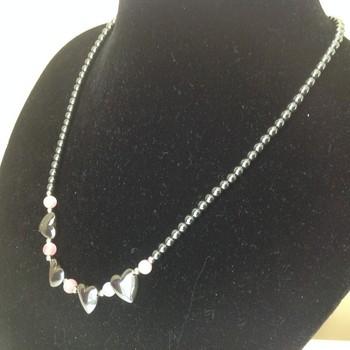 Hematite with Rose Quartz Necklace