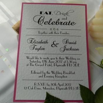 Wedding Invitation - Flat Card - Celebrate