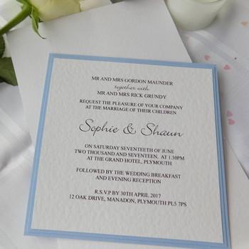 Wedding Invitation - Pocket Fold - Chic
