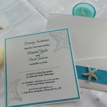 Evening Invitation - Pocket Card - Coast