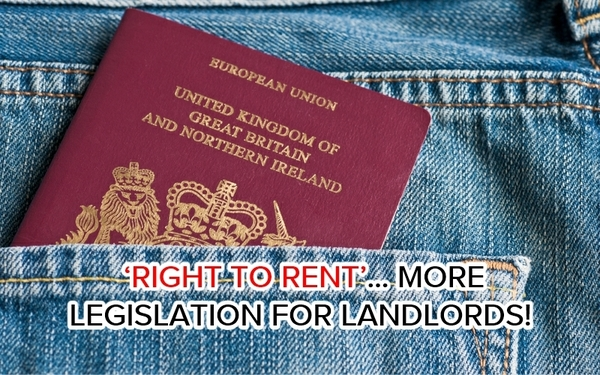 RIGHT TO RENT FOR ALL PROPERTIES IS NOW A LEGAL REQUIREMENT SINCE FEB 1ST 2016