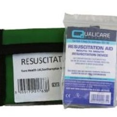 Resuscitation Shield in Key Ring Pouch