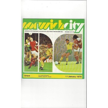 1977/78 Norwich City v Leyton Orient Football Programme