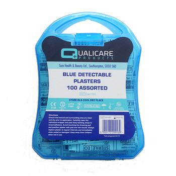 Plasters - Blue Detectable Assorted in wipe clean box