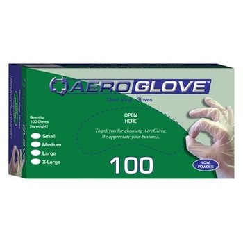 Clear Vinyl Gloves, Powder free - Box 100 Extra Large