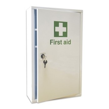 Empty Metal First Aid Cabinet