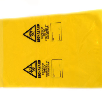 Yellow Clincal Waste Bag - Pack of 50
