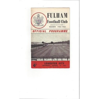 Fulham v Leicester City 1962/63