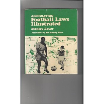 Association Football Laws Illustrated by Stanley Lover 19 Hardback Football Book