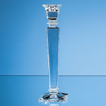 30.5cm Lead Crystal Carla Candlestick Holder
