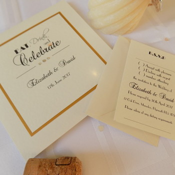 Wedding Invitation - Pocket Fold - Celebrate