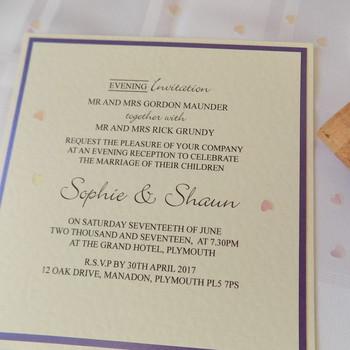 Evening Invitation - Flat Card - Chic