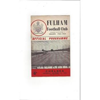 1963/64 Fulham v Chelsea Football Programme