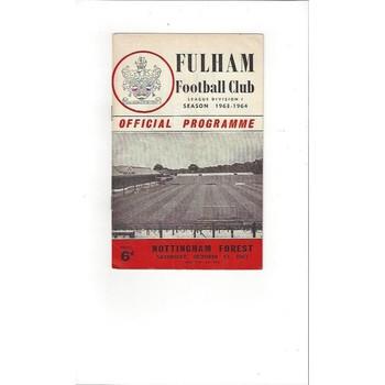 Fulham v Nottingham Forest 1963/64