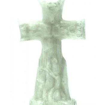 White Crucifix Altar Ritual Candle